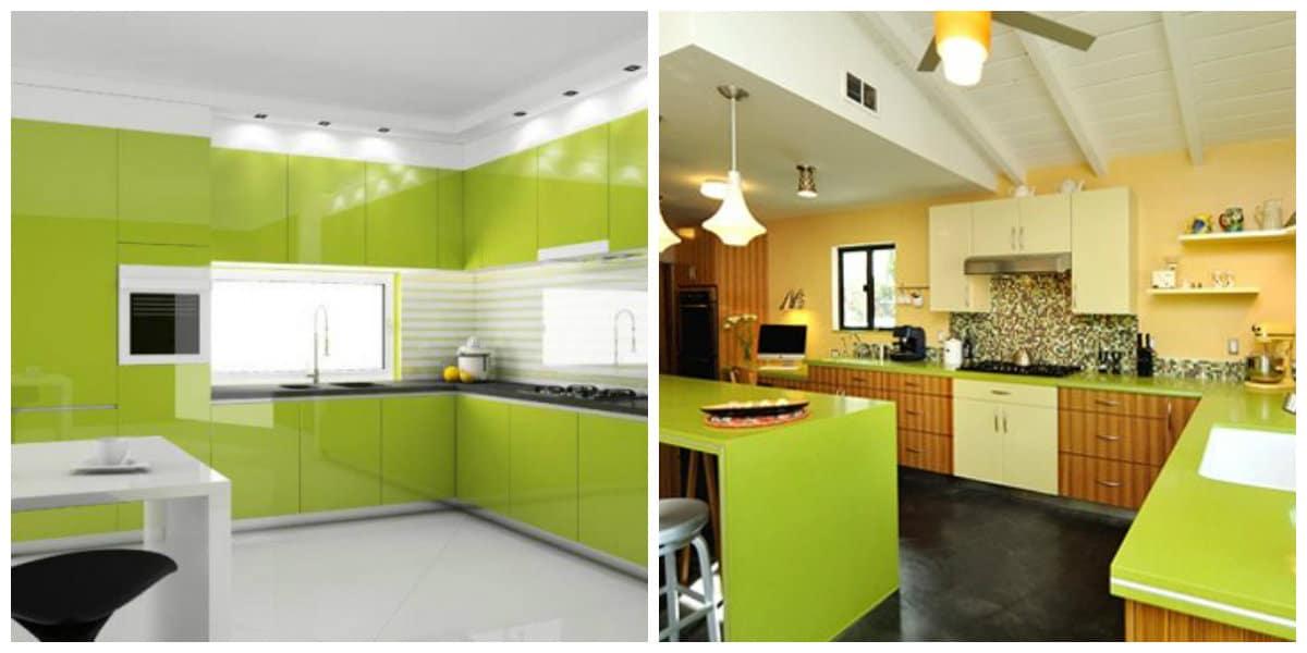 Cocinas 2020- verde muestra tu amor por naturaleza
