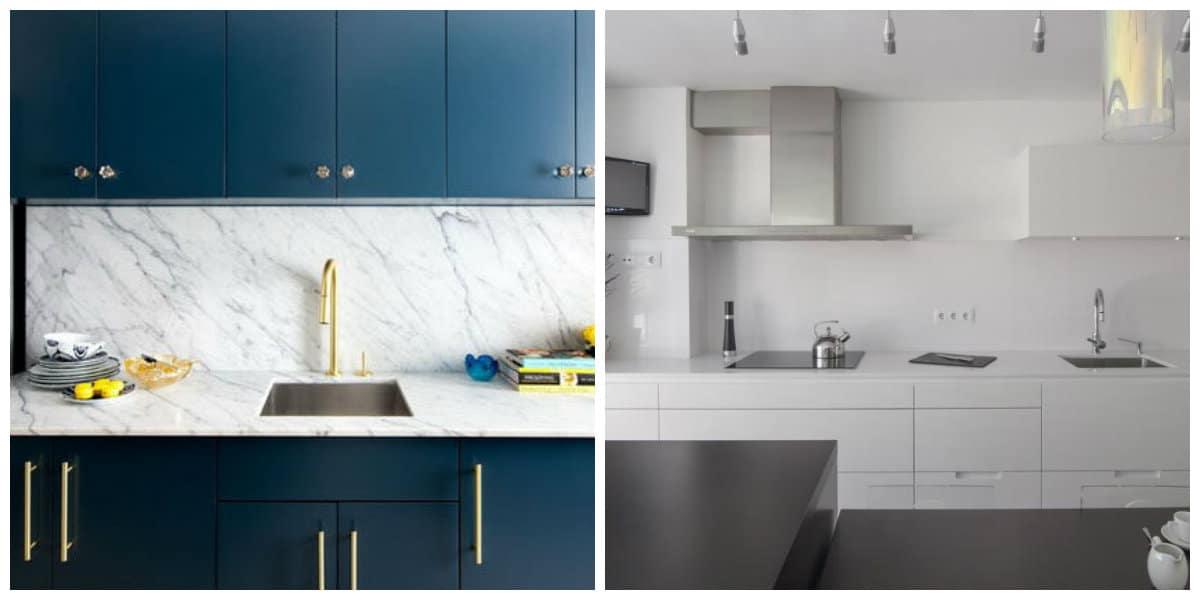 Cocinas 2020- colores azul y cristalina estan de moda