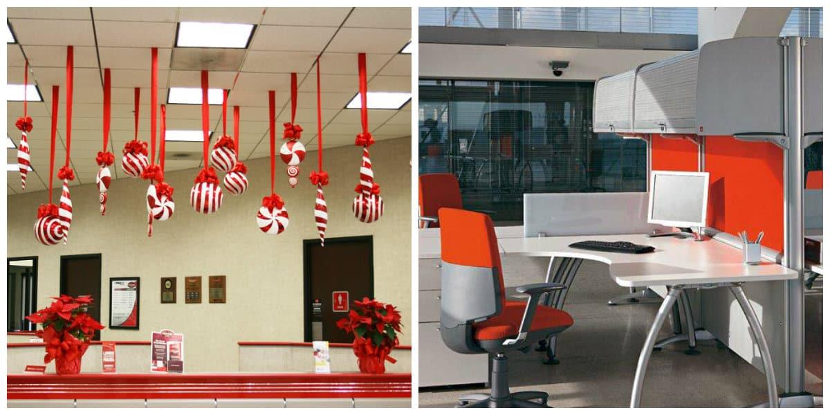 Oficinas 2018- rojo se emplea en el interior de las oficinas modernas