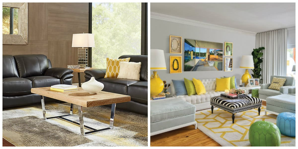 Sala de estar 2020- alhomadas de diferentes colores de moda
