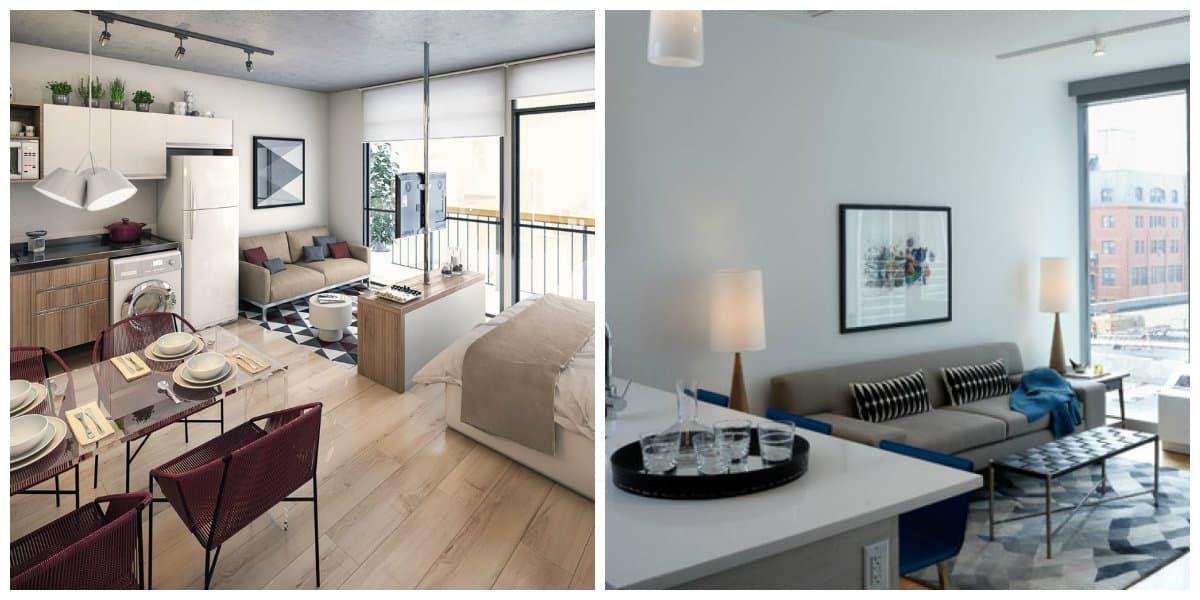 Apartamentos pequeños- apartamento de una sola habitacion