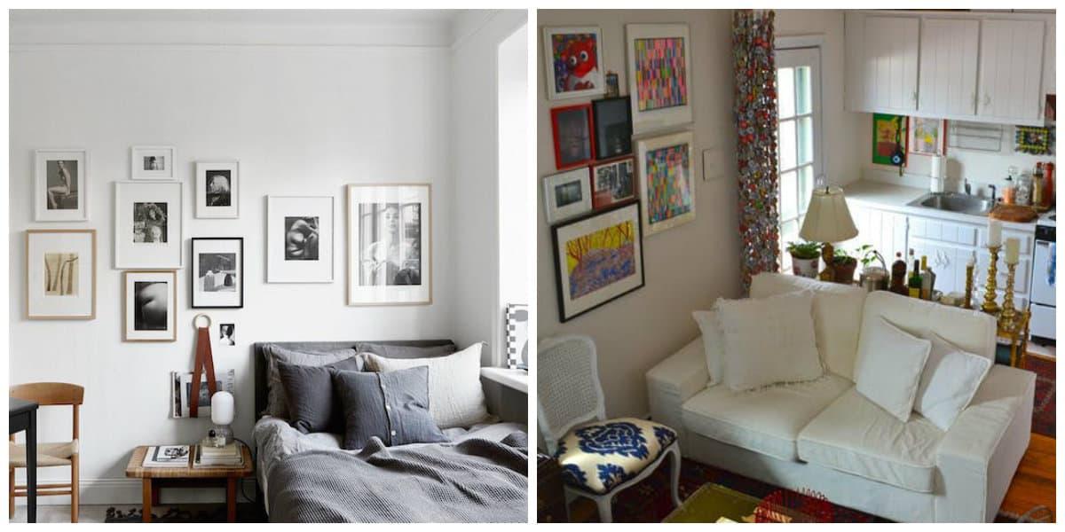 Apartamentos pequeños- decoracion de las paredes del apartamento