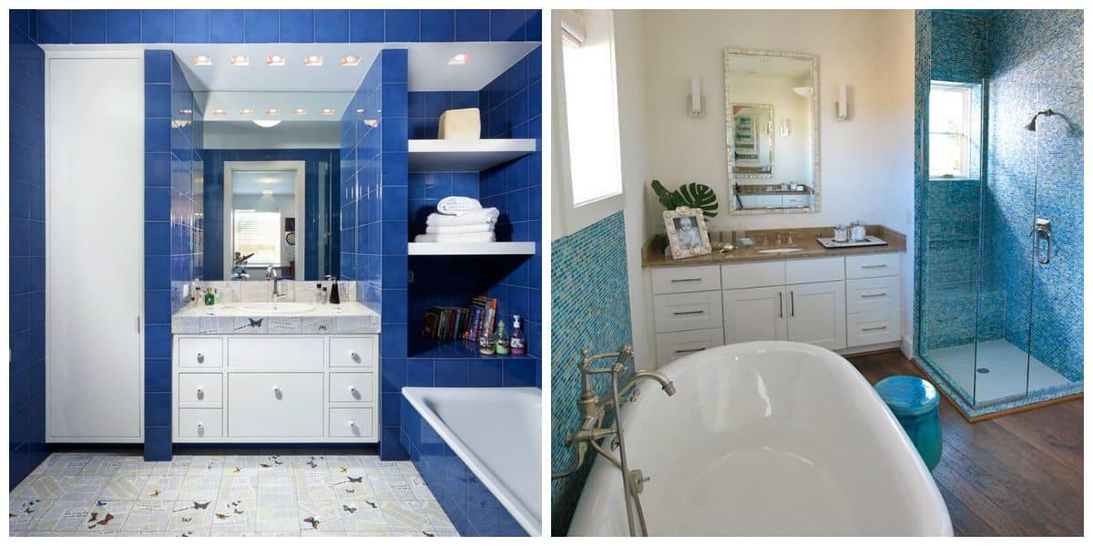 Ba Os Azules Interior De Ba O De Moda 2018 De Color Azul