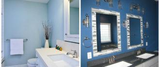 Baños azules- el uso practico de tonos de moda
