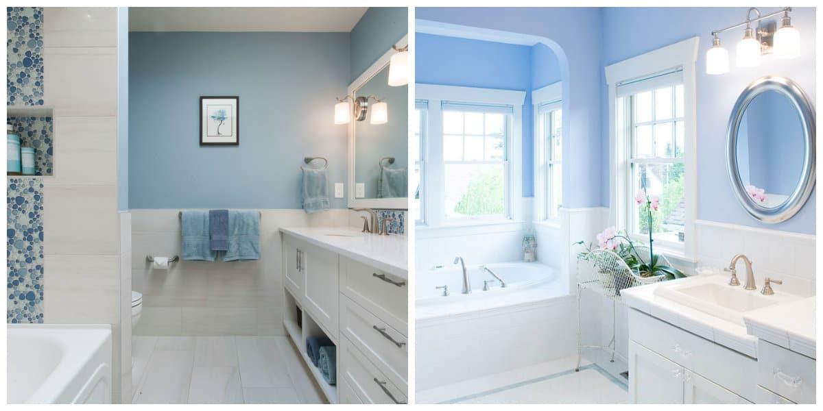 Baños azules: Interior de baño de moda 2018 de color azul