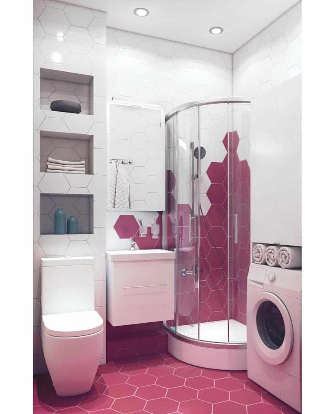 Diseños de baños 2020; Ideas de lujo para cuarto de baño púrpura