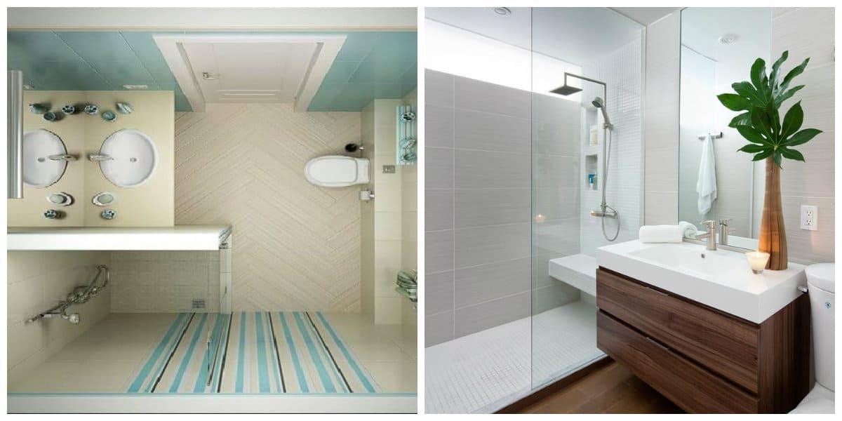 Baños pequeños 2020- muebles con superficie brillante