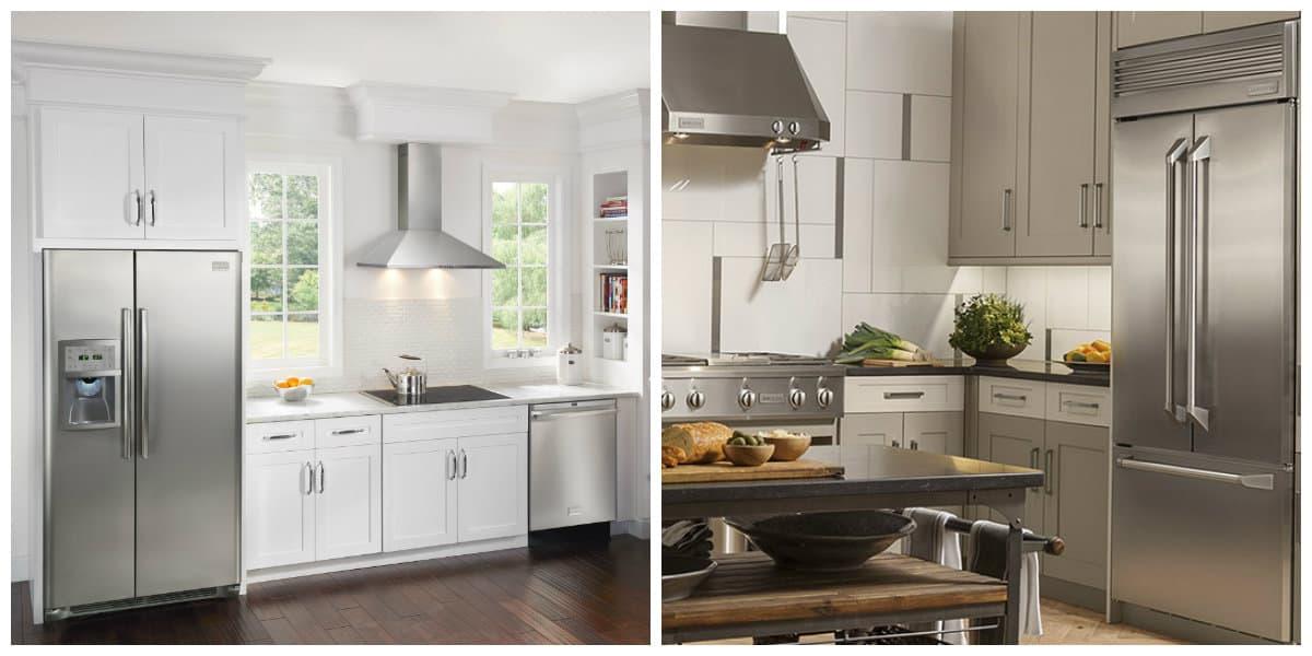 cocina con nevera ideas de cocinas con nevera modernas