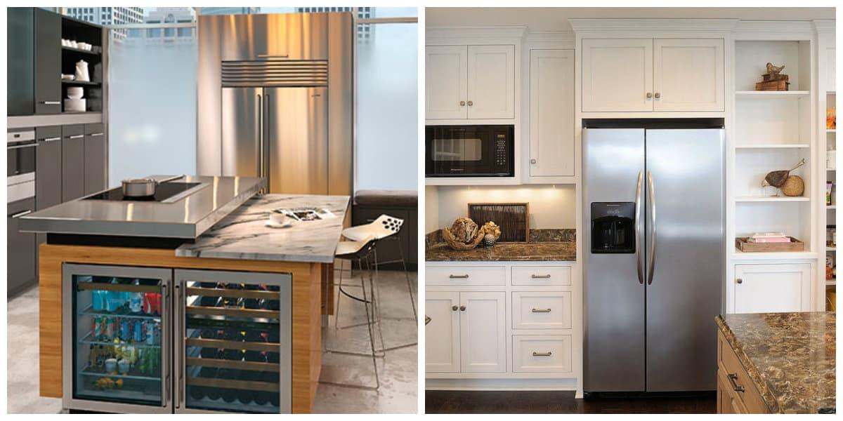 Cocina con nevera ideas de cocinas con nevera modernas for Disenadores de cocinas pequenas