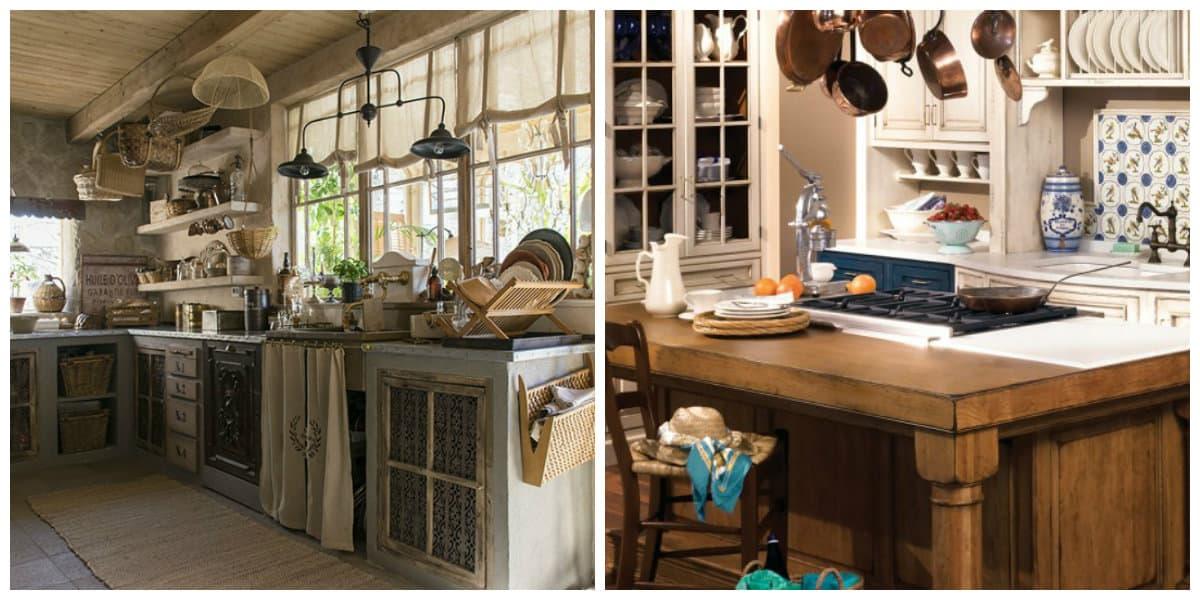 Cocina provenzal dise o interior de la cocina con encanto for Diseno de interiores vintage