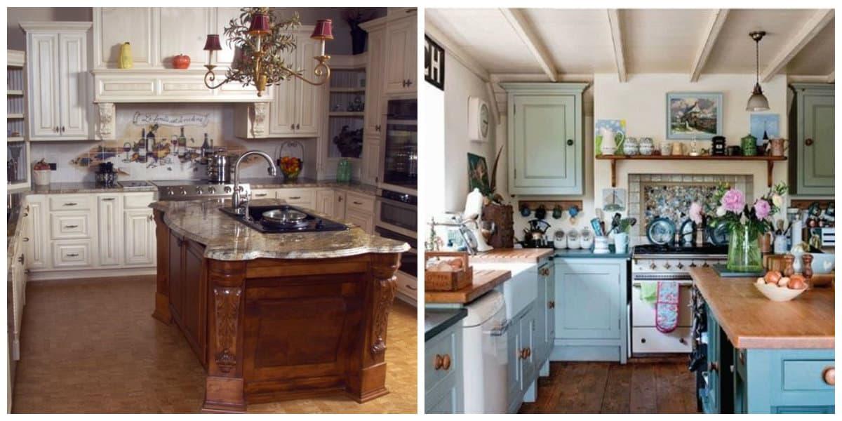 Cocinas estilo inglés- en colores calidos, saturados, no llamativos