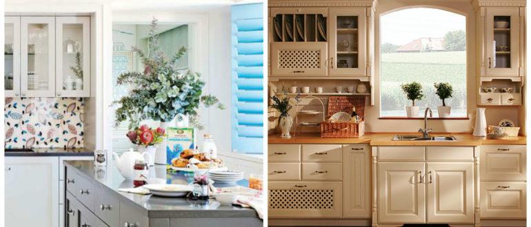 Cocinas estilo inglés- diferentes colores y enfoques generales