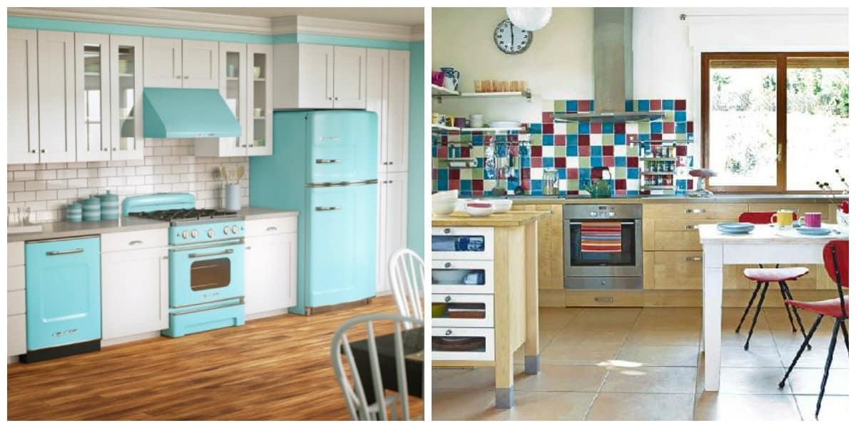 Cocinas modernas 2018- interiores de cocinas, colores adecuados