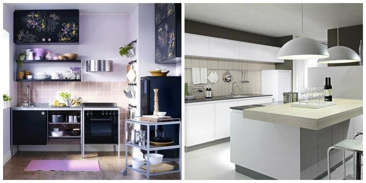 Cocinas pequeñas 2018- colores oscuros y claros fuera de estereotipos