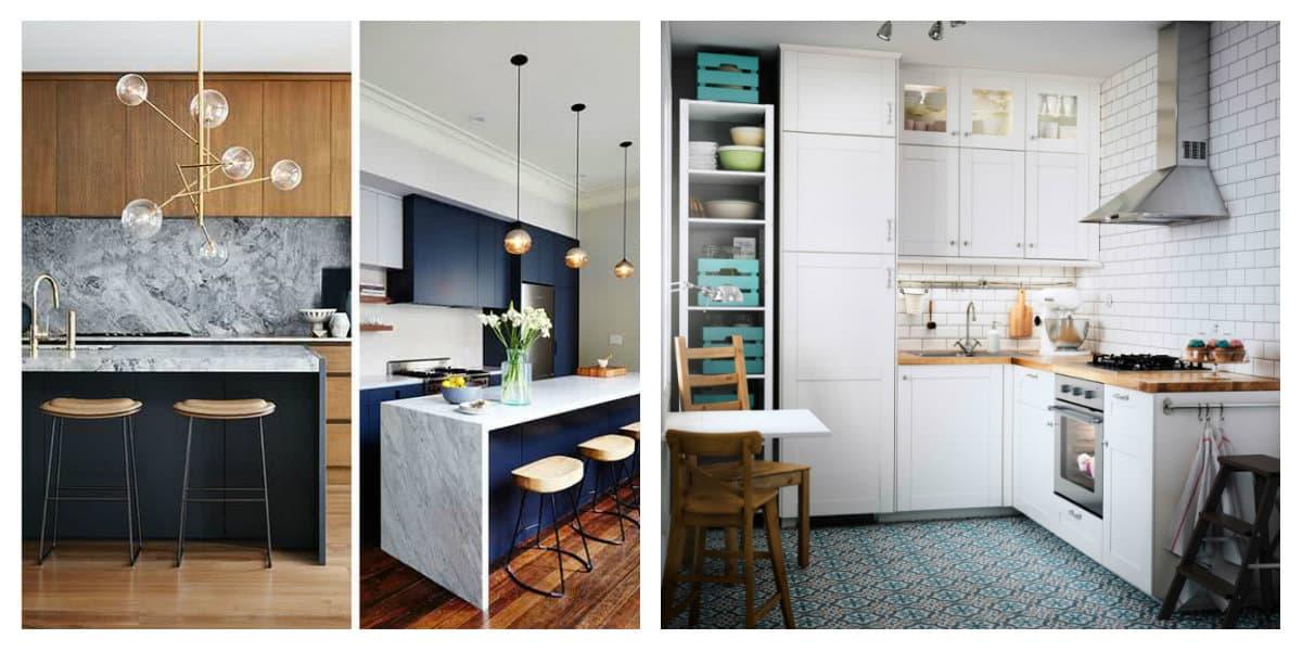 Cocinas pequeñas 2018: Interior y diseño de cocina pequeña
