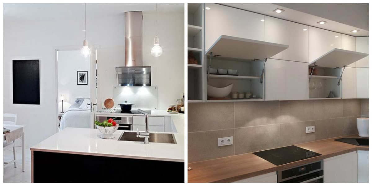 Cocinas pequeñas 2018- deorar el interior segun la moda