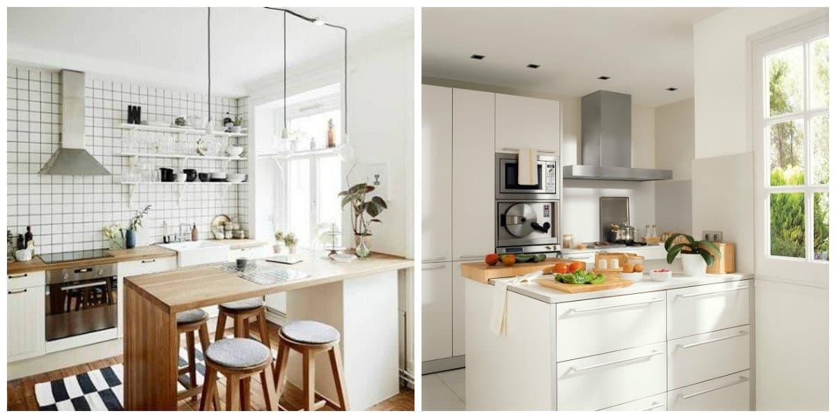 Cocinas pequeñas 2020- el uso de auriculares de cocina de esquina