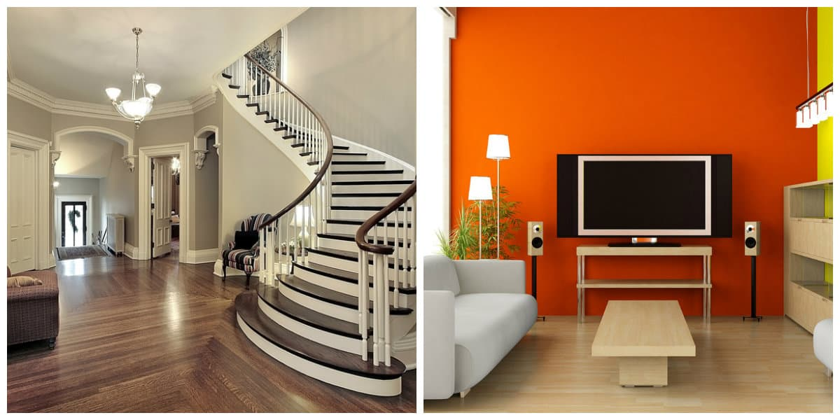 Colores de interiores 2020- color de naranja y blanco de moda