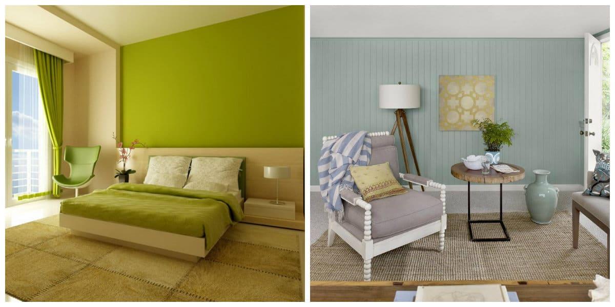 Colores de interiores 2018- verde se vuelve a estar de moda