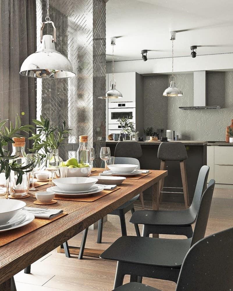 Comedores 2020; Diseño Moderno De Cocina y Del Comedor 2020 ...