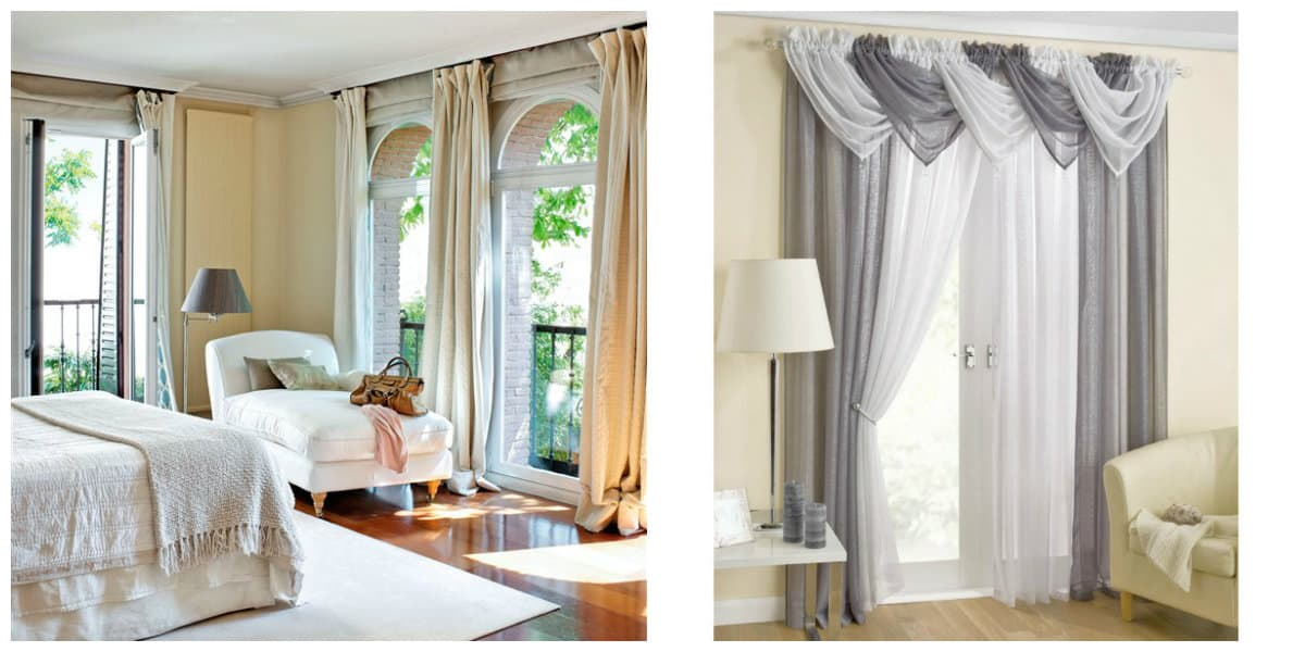 Cortinas modernas 2018- colores claras para sala de estar