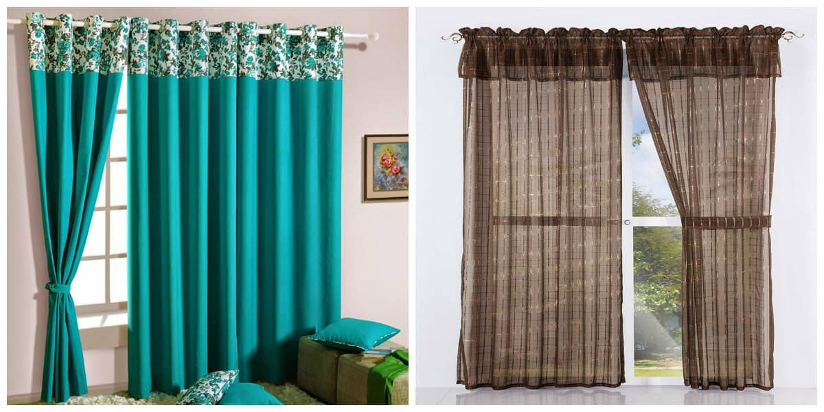 Cortinas modernas 2018- azul y marron como colores pricnipales