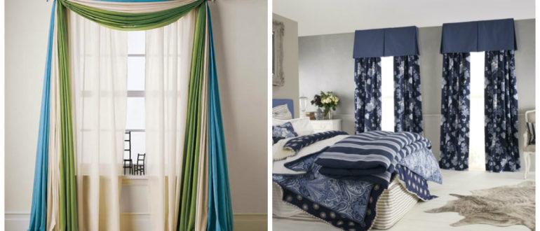 Cortinas para habitación- soluciones interesantes con diferentes colores