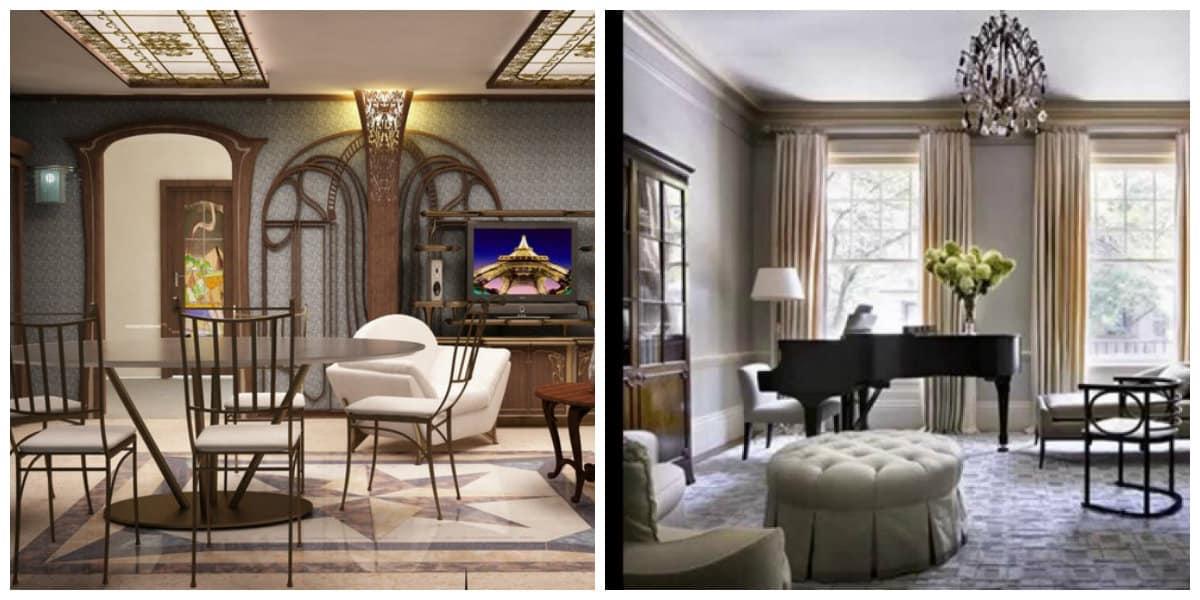 Decoraci n de sala de estar sala de estar en estilo art nouveau - Decoracion sala de estar ...