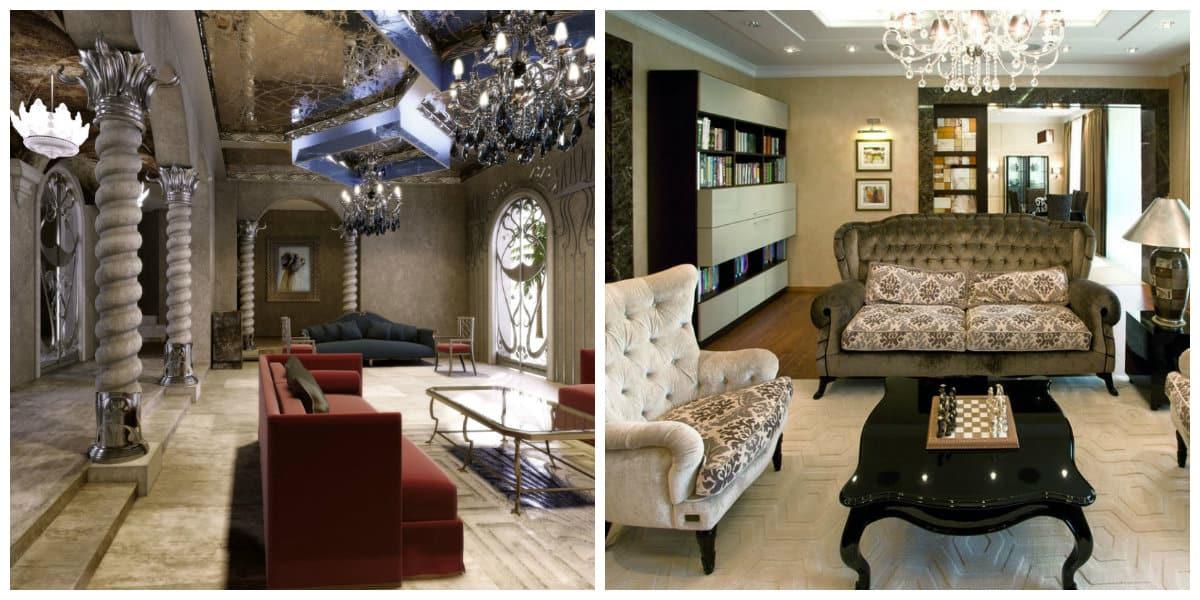 Decoración de sala de estar- opcion entre natural y moderno