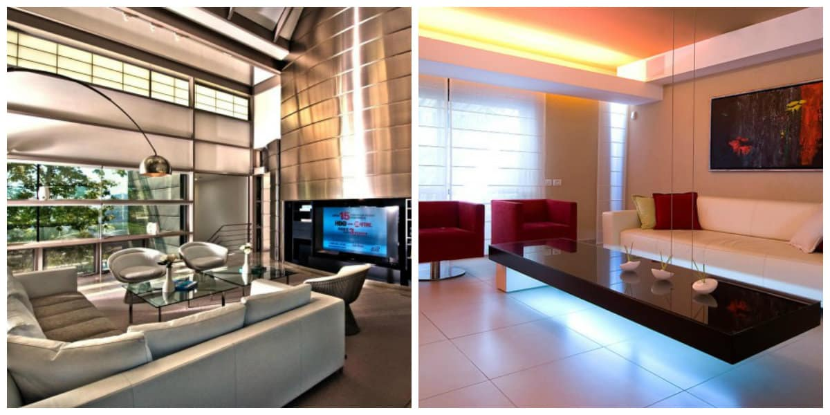 Decoración de salas modernas- etilo genial con colores