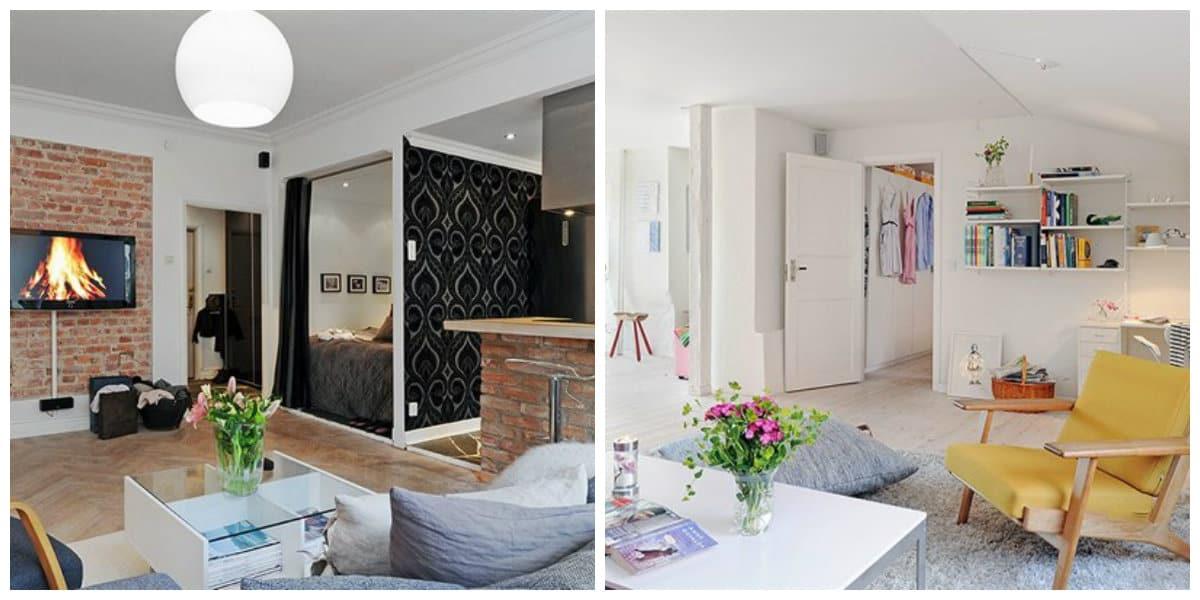 Diseños de apartamentos- ideas creativas para sala de estar