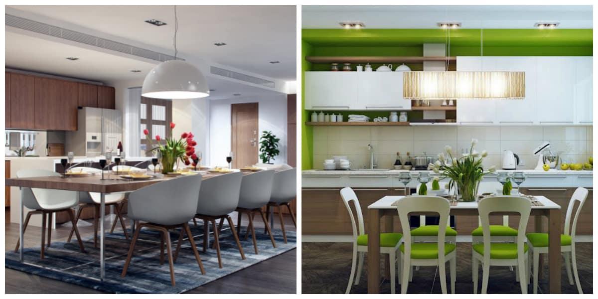 Diseños de cocinas comedor- uso de tonalidades suaves