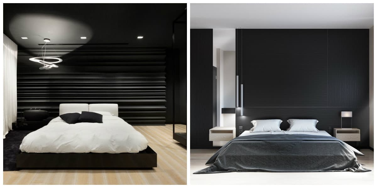 Dormitorio negro- todas las ideas y tendencias modernas