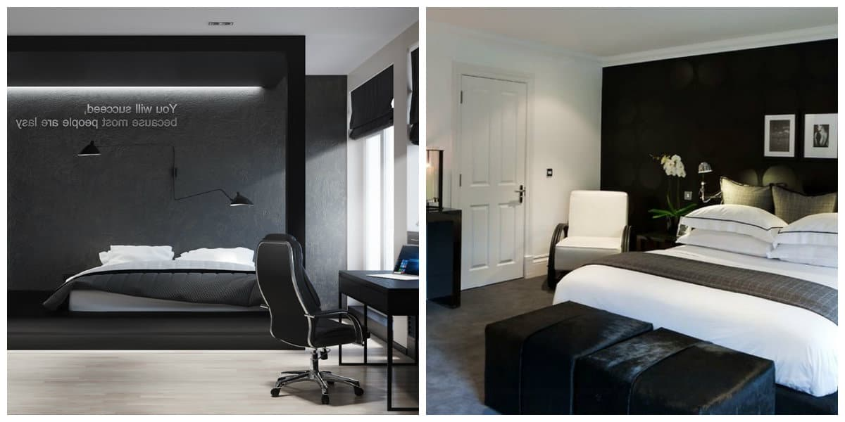 Dormitorio negro dise o excepcional del interior de for Dormitorio negro