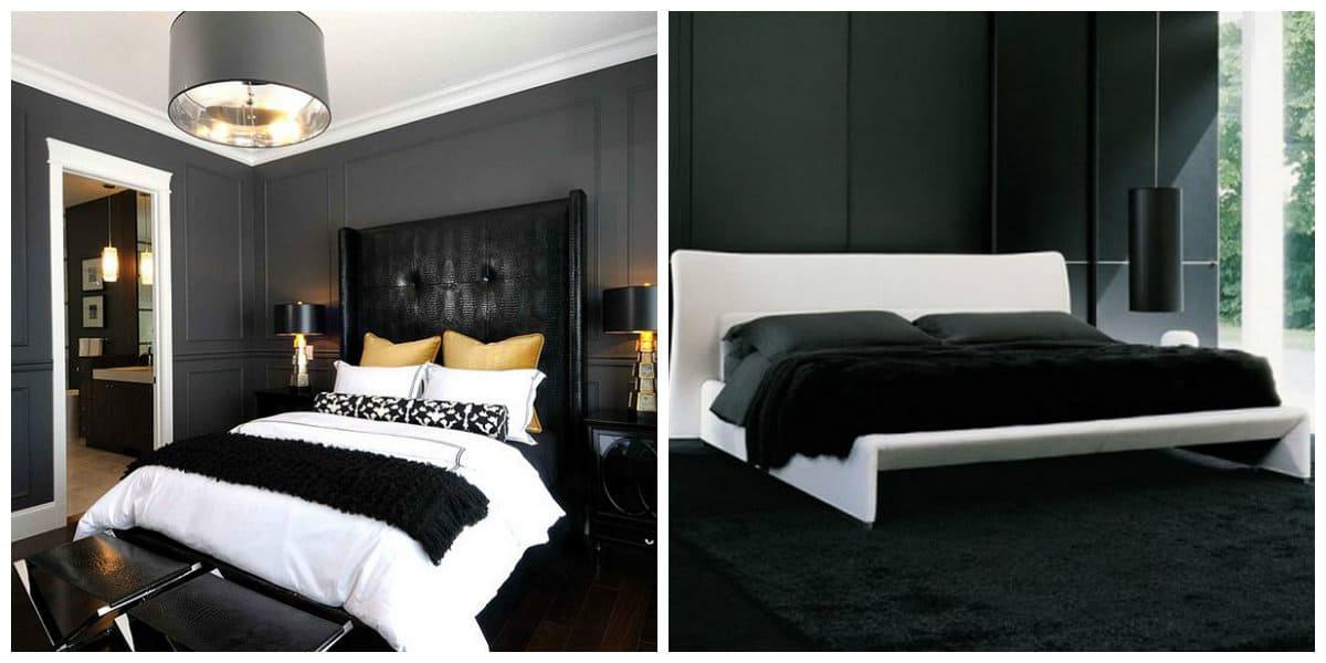 dormitorio negro dise o excepcional del interior de