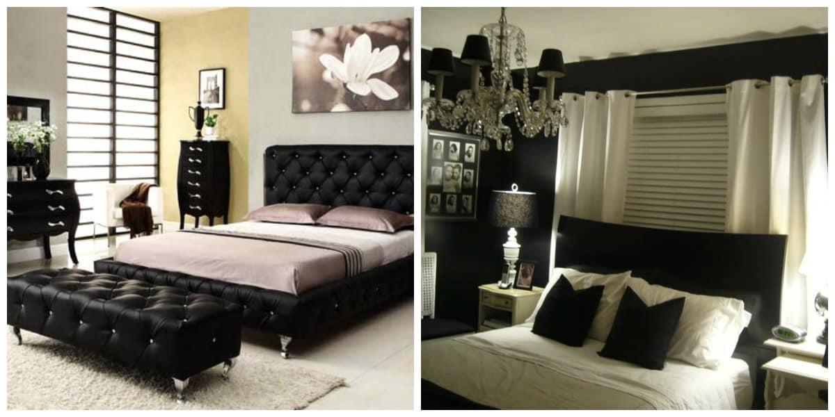 Dormitorio negro- el color negro se ve simplemente magico