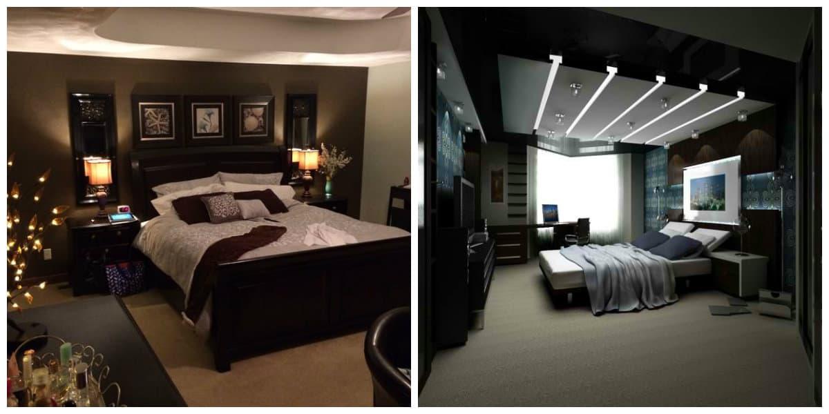 Dormitorio negro- habitacion con motivos marroquies de moda