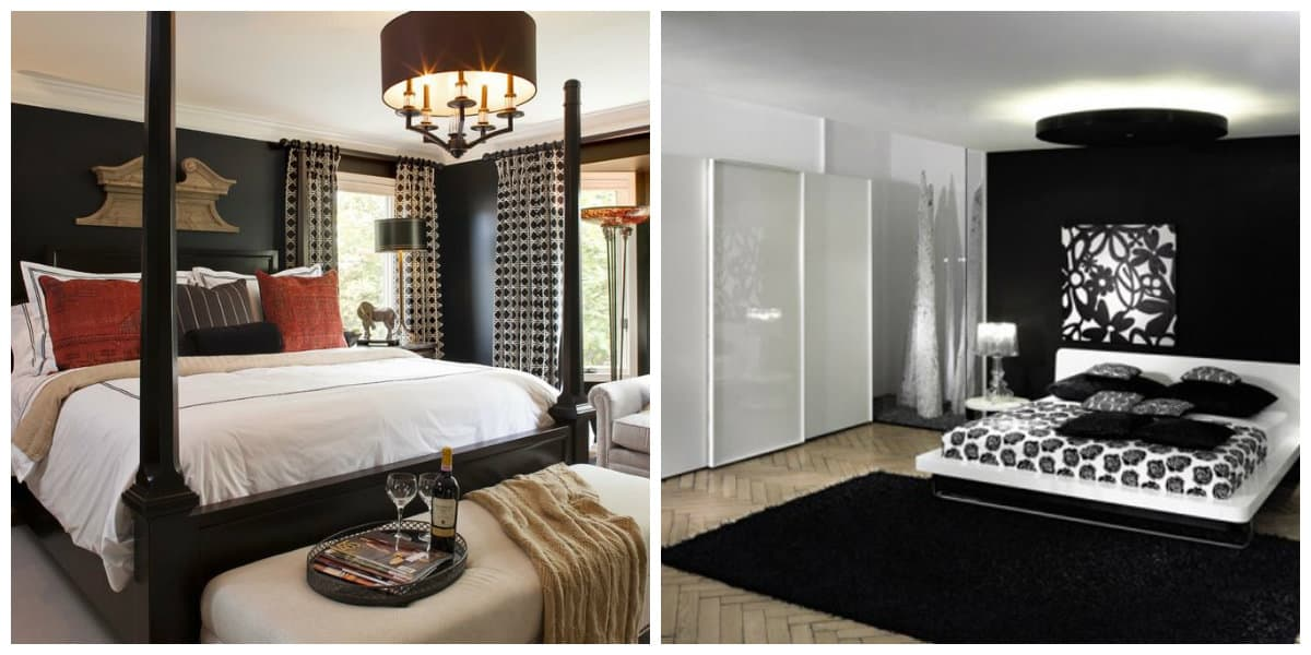 Dormitorio negro- exquisitos estilos de lujo de moda