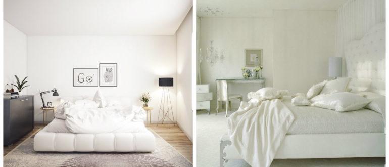 Dormitorios blancos- elegancia y modernidad en este color