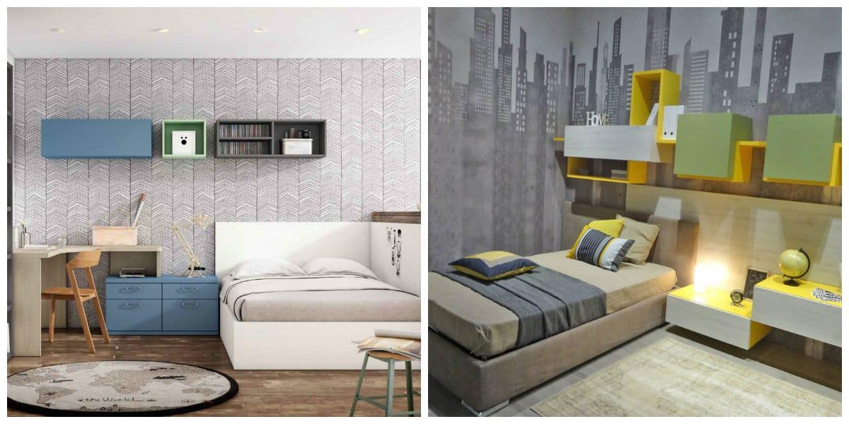 Habitaciones juveniles 2018- esquema de colores muy de moda