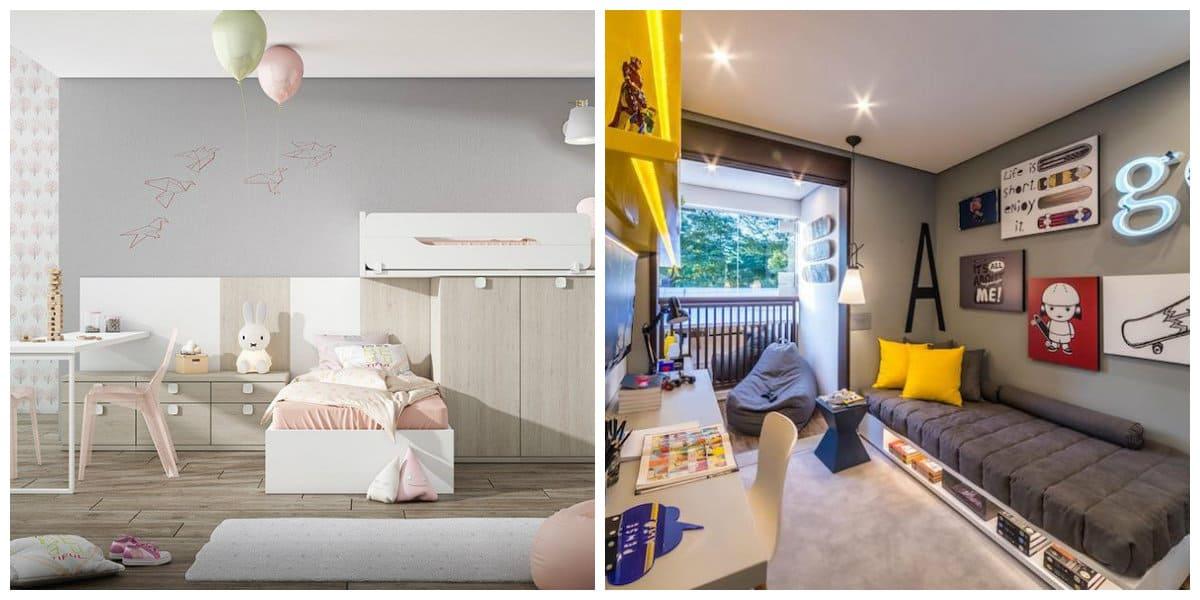Habitaciones juveniles 2018- materiales y acabados de moda