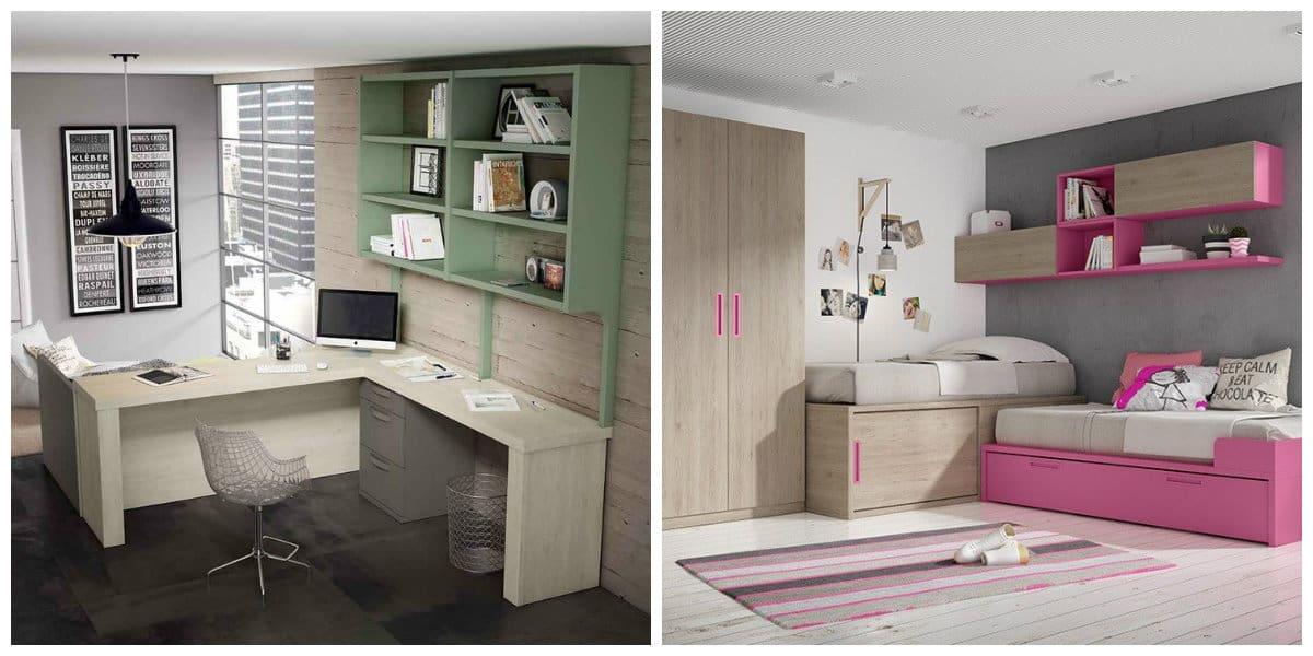 Habitaciones juveniles 2018- suelos de madera para la sala
