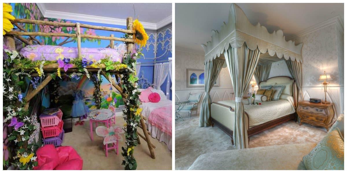Habitaciones para niñas- paredes de estilo de cuentos de hada
