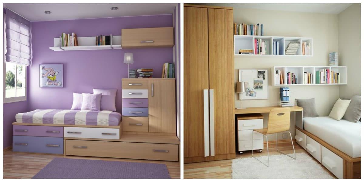 Habitaciones peque as dise o de dormitorios peque os de moda for Muebles infantiles para habitaciones pequenas