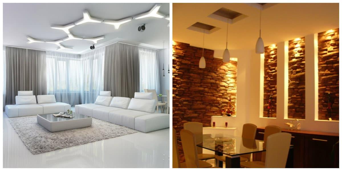 Iluminación de interiores- tipos de iluminacion clara y oscura