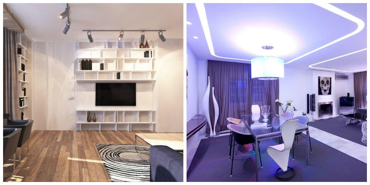 Iluminación de interiores- colores que se pueden obtenre mediante luces