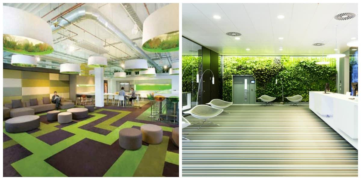 Oficina verde- acabados muy de moda que estan en tendencia