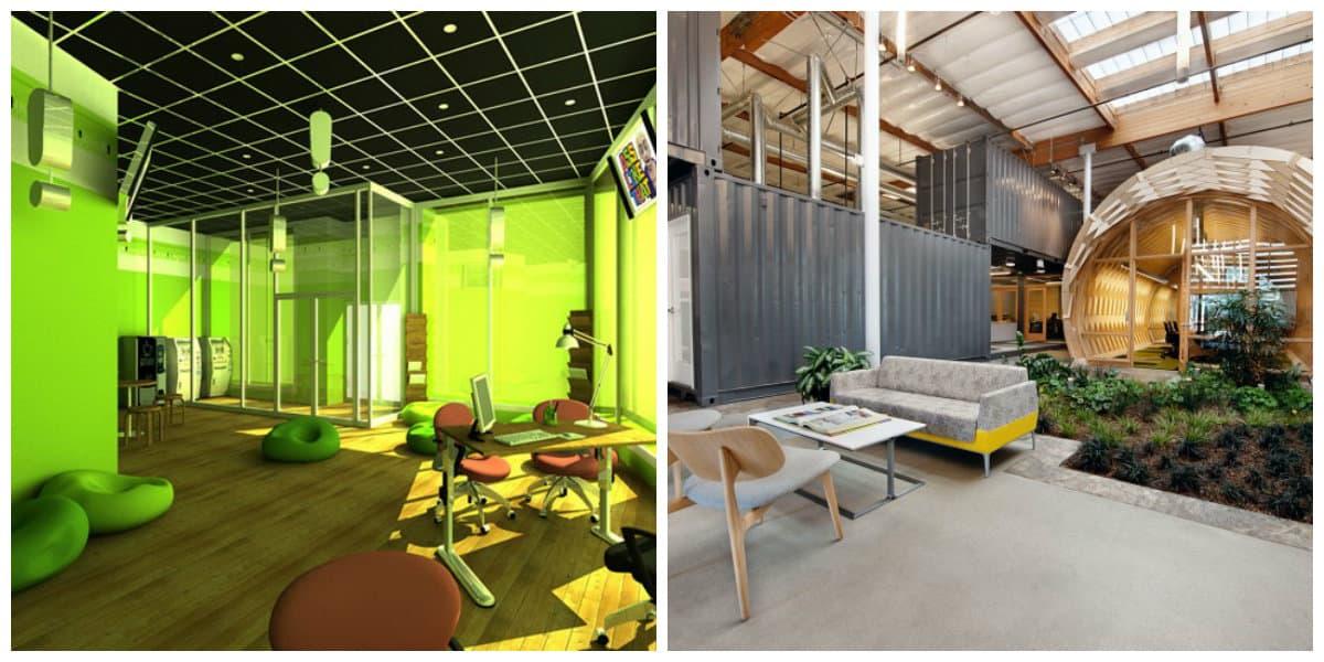 Oficina verde- hi-tech soluciones y opciones de moda