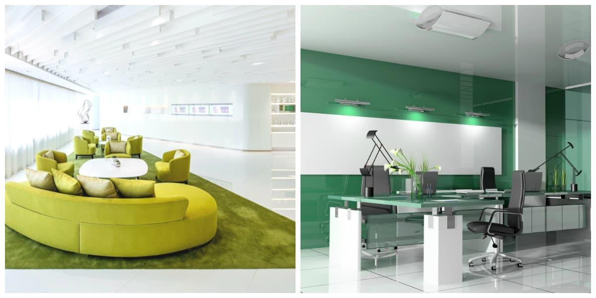 Oficina verde: Diseño interior moderno de oficina 2018