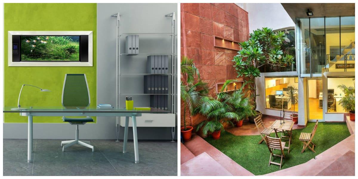 Oficina verde- combinacion de colores exitosas